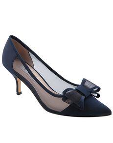 Nina Bridal Bianca_New Navy Luster-Satin Black, Silver, White, Champagne Shoe