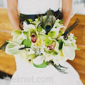 Eclectic Green and White Bouquet