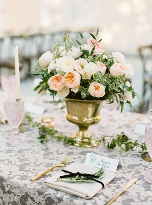 Pink and Gold Table Settings