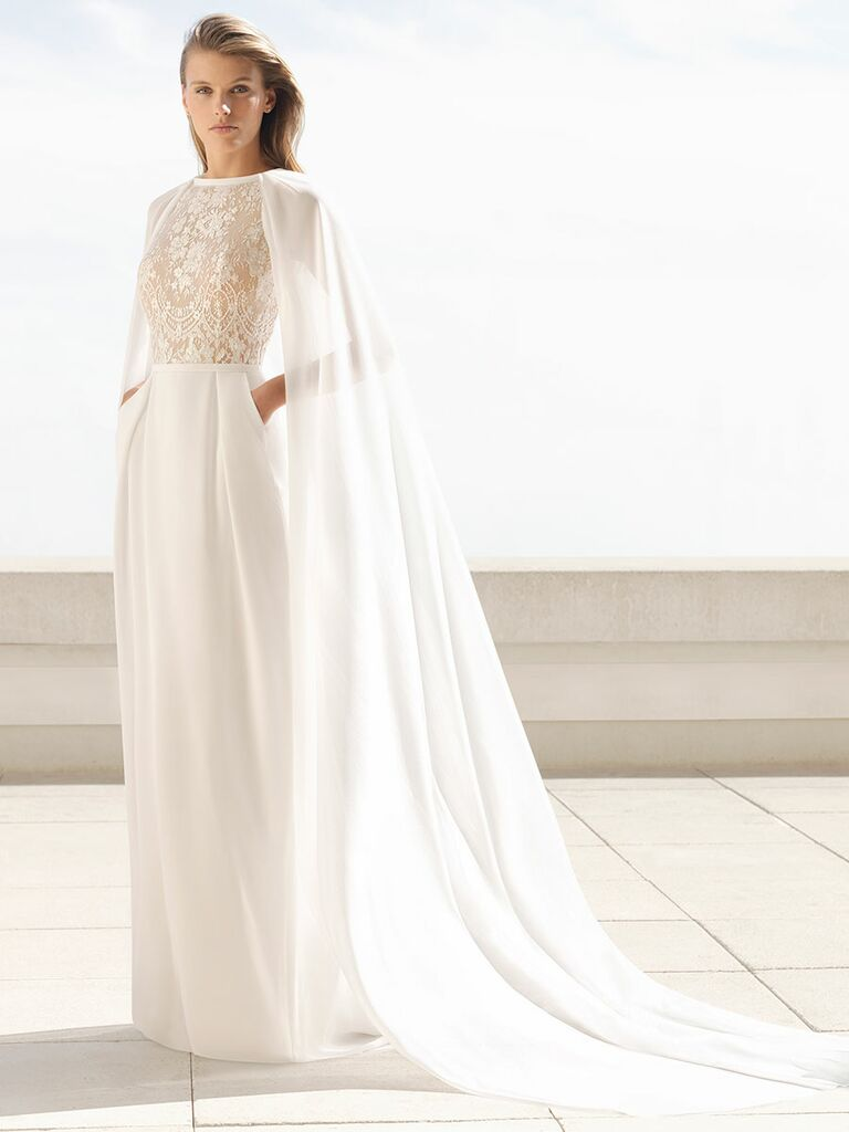 Rosa Clará Fall 2018 wedding dresses gown with cape