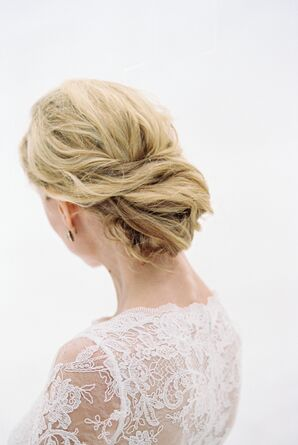 Elegant Twisted Updo Bridal Hairstyle