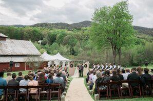 North Georgia Mountains Outdoor Wedding Ceremony