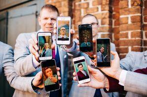 Groom and Groomsmen Selfies