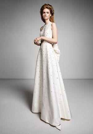 Viktor&Rolf Mariage BOW-BACK CRYSTAL GOWN Sheath Wedding Dress