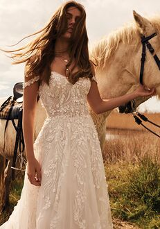 Lillian West 66176 A-Line Wedding Dress