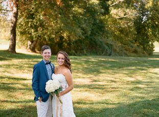 Melissa Marshall (31 and a police officer) and Danielle Marshall (27 and a project manager) planned an intimate, laid-back autumn wedding at the Maryl