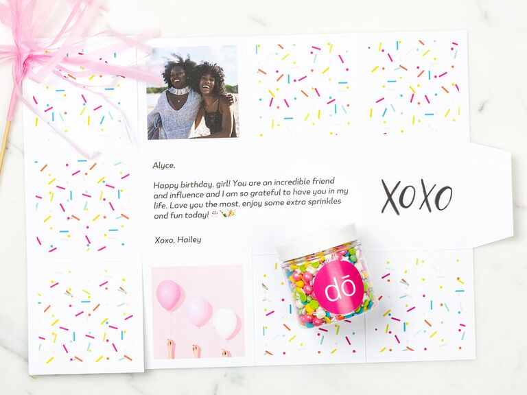 Custom Greetabl gift box with photo