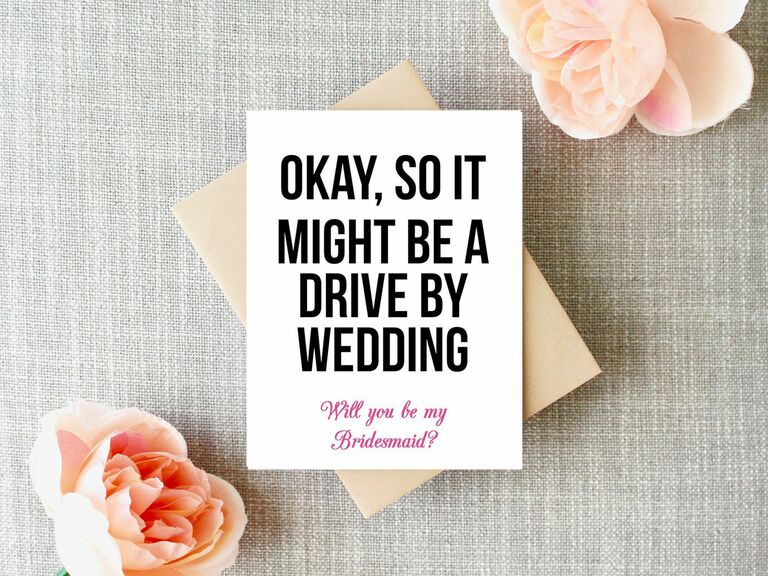 BRIDAL SQUAD will you be my BRIDESMAID card bridal card bridesmaid cards kraft wedding be my bridesmaid card funny bride squad card wedding