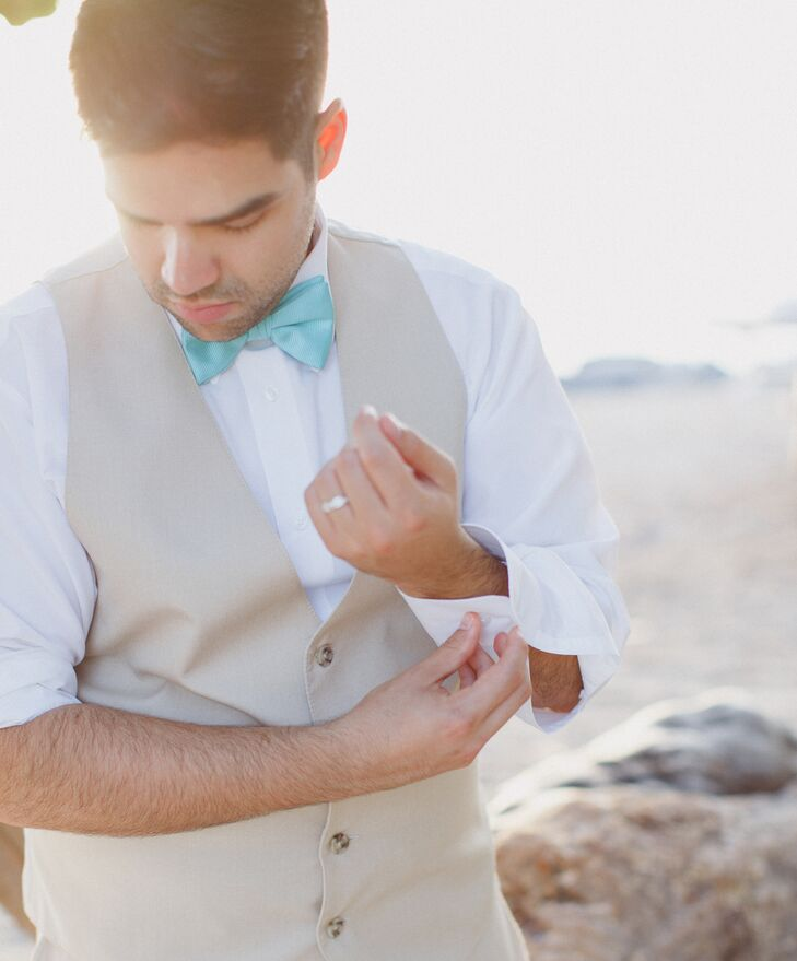 Groom Transitions Wardrobe for Wedding Photo Shoot