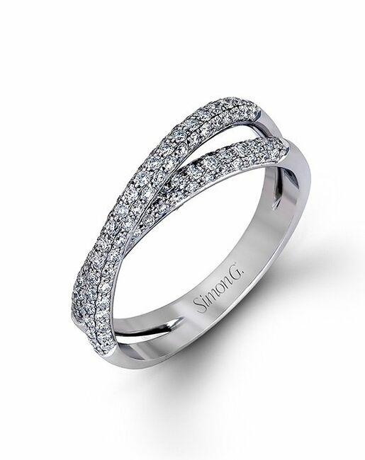Simon G. Jewelry MR1577-D-BAND White Gold Wedding Ring