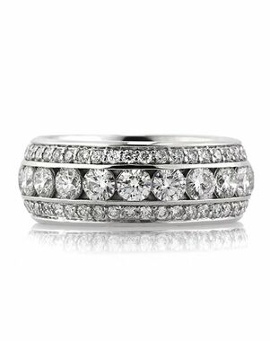Mark Broumand 3.50ct Round Brilliant Cut Diamond Eternity Band White Gold Wedding Ring
