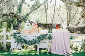 Vintage Preceremony Drink Display