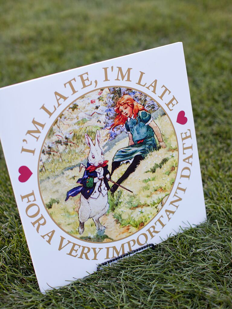 'Alice in Wonderland' save-the-date card