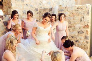 Off-Shoulder Tulle Skirt Wedding Dress