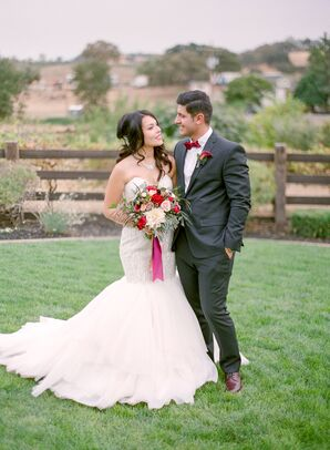 Romantic, Elegant Vineyard Wedding