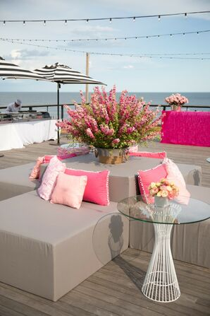 Gray and Pink Lounge Furniture at Gurney's Inn in Montauk, New York