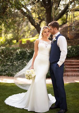 Essense of Australia D2711 Sheath Wedding Dress