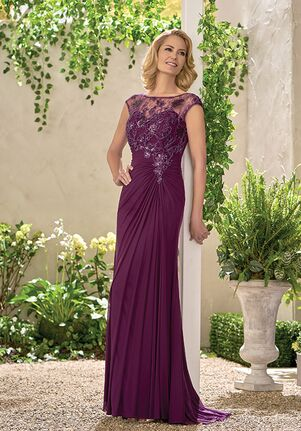 Jade Mother of the Bride by Jasmine J195010 Purple Mother Of The Bride Dress