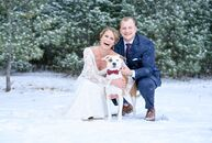 Emily Haffley and Branden Goetsch's winter wedding exuded classic elegance, with thoughtful touches woven throughout giving the day plenty of personal
