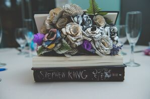 Centerpiece Made from Paper Flowers