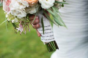 Personalized Religious Handkerchief Bouquet Wrap