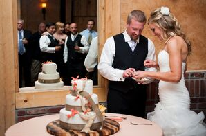 DIY Three-Tier Rustic Fondant Wedding Cake