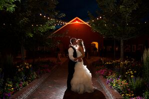 Erica and Jace at Crooked Willow Farms in Larkspur, Colorado