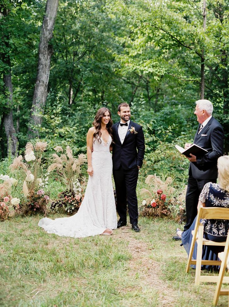 Wedding Ceremony at Nature Michigan Retreat in Maple City