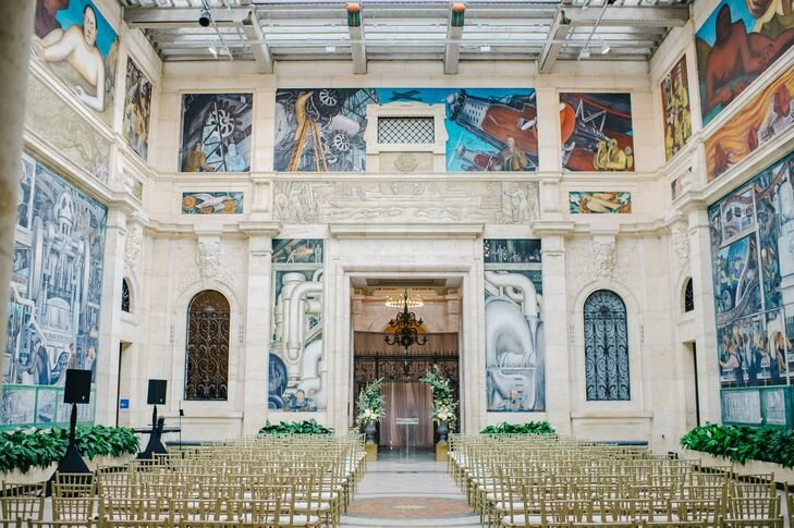 Ceremony at the Detroit Institute of Arts in Michigan