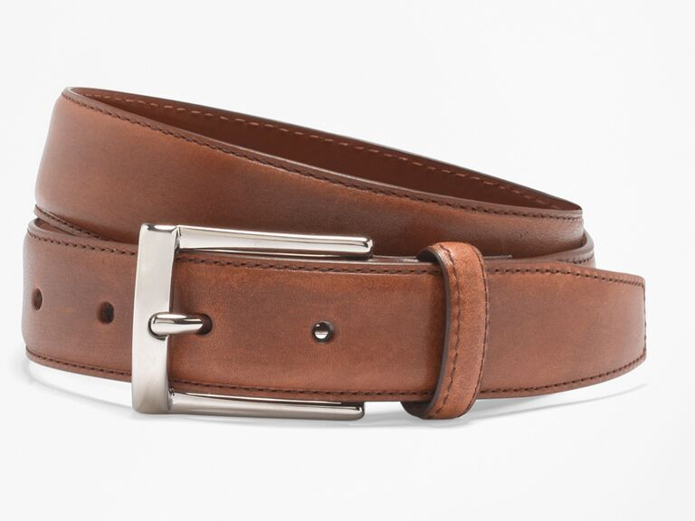 Silver buckle belt 25th anniversary gift