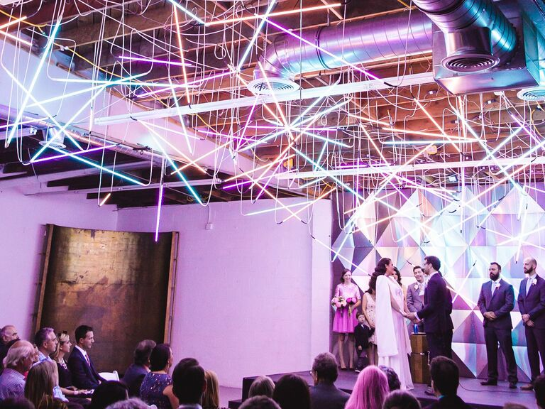 colorful modern wedding ceremony