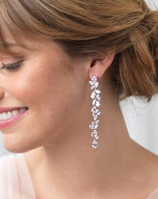 Dareth Colburn Anastasia Long Dangle CZ Earrings (JE-4090) Wedding Earring photo