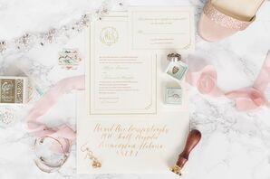 Elegant Calligraphed Wedding Invitations