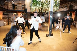 Special Groom Dance During Wedding at The Winslow in Baltimore, Maryland