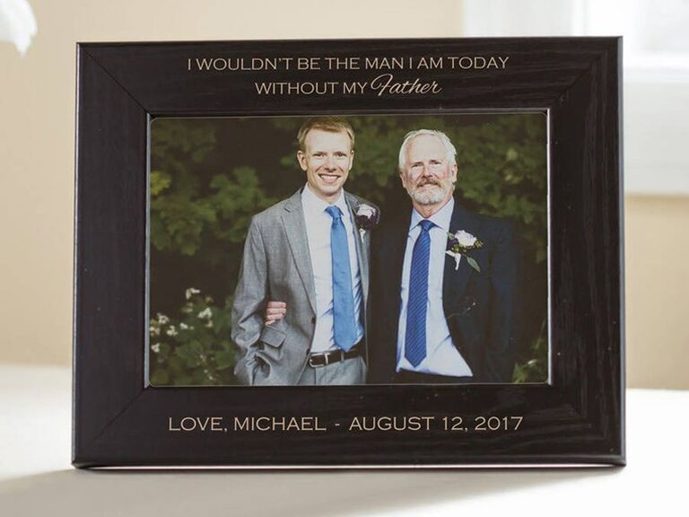 Personalized picture frame father of the groom gift