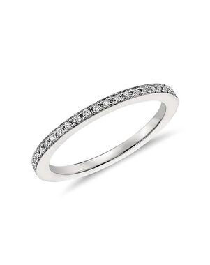 Monique Lhuillier Fine Jewelry Pavé Diamond Ring (1/8 ct. tw.) Platinum Wedding Ring