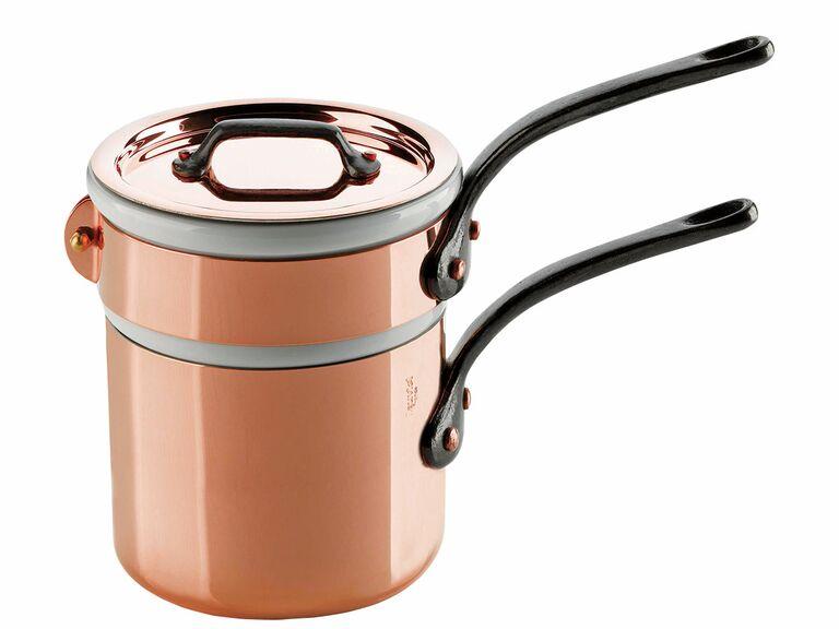M'Tradition Bain Marie copper nesting pots
