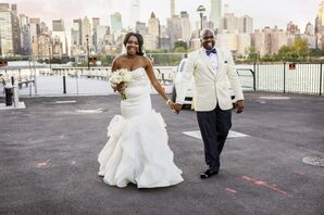 African-American Couple with New York City Skyline Backdrop