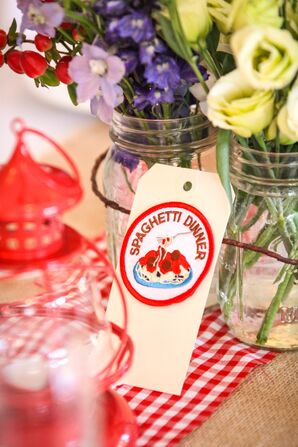 Retro Vintage Camp Patch Table Number