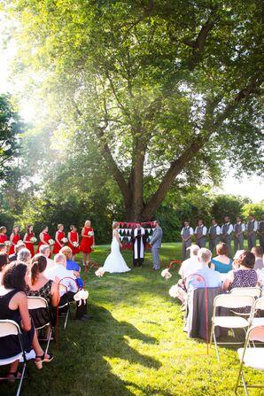 Retro Outdoor Ceremony at Hellenic Community Center