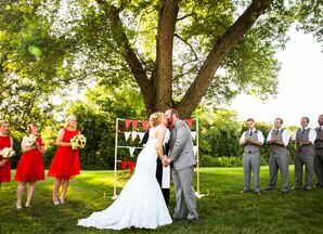 Personalized Vows at Retro Outdoor Ipswich, Massachusetts Ceremony