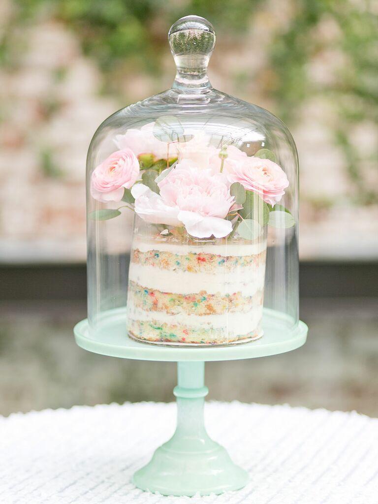 Single tier wedding cake momofuku sprinkles