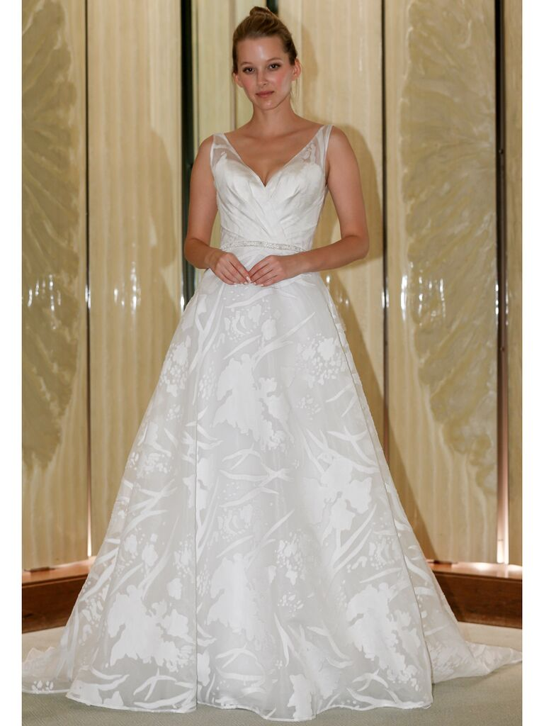 Randy Fenoli Fall 2019 Bridal Collection A-line wedding dress with sleeveless bodice