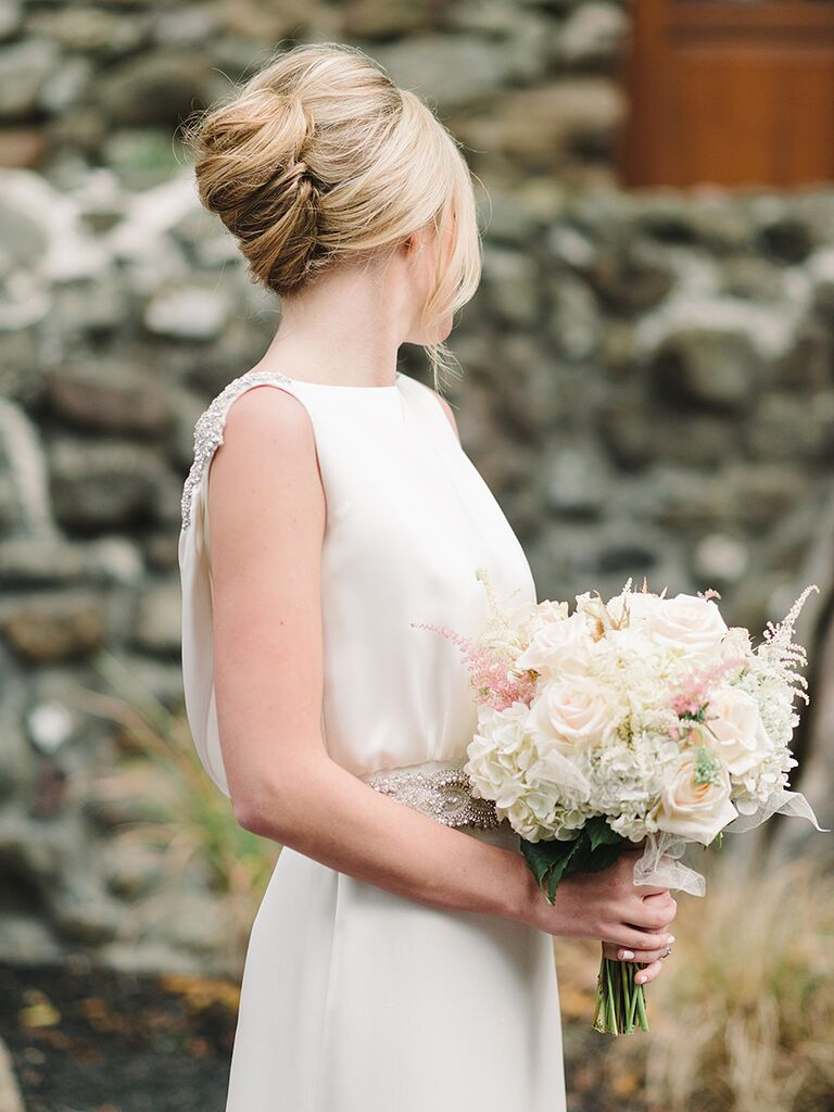 French chignon twist wedding updo