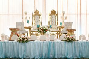 Traditional African Head Table with Glam Gold Throne