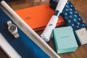 Personalized Pocket Square and Nautical Socks
