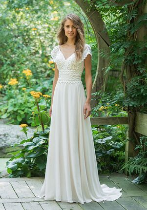 Lillian West 66016 A-Line Wedding Dress