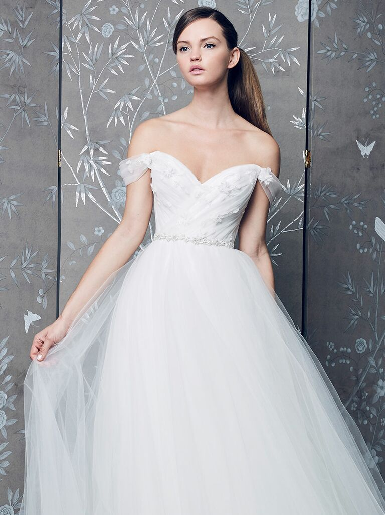 Legends By Romona Keveza Fall 2018 D Off The Shoulder Ball Gown Wedding Dress