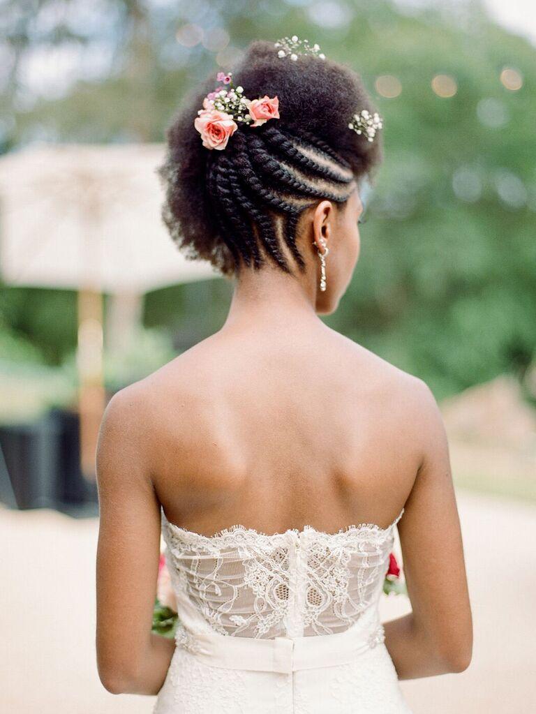 wedding braid hairstyles braided updo short hair