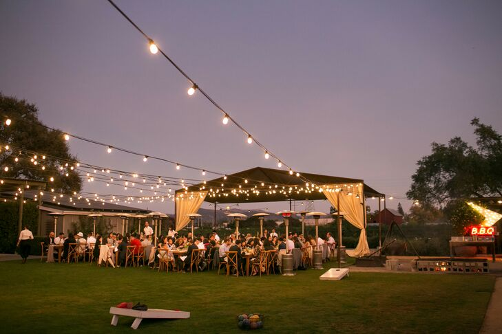 Sunset Al Fresco Reception with Café Lights